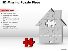 3D Home H Missing Puzzle Piece