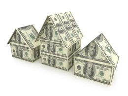 3d House Made Of Dollars Stock Photo