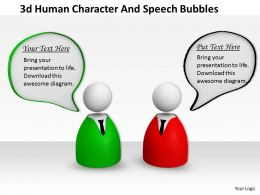 3d Human Character And Speech Bubbles Ppt Graphics Icons Powerpoint