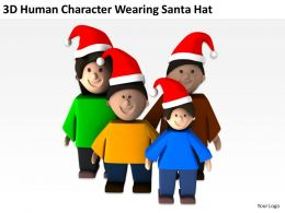 3D Human Character Wearing Santa Hat Ppt Graphics Icons Powerpoint