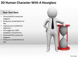 3D Human Character With A Hourglass Ppt Graphics Icons Powerpoint