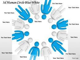 3d Human Circle Blue White Ppt Graphics Icons Powerpoint