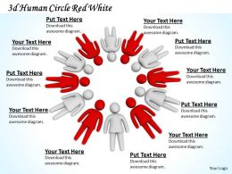 3d Human Circle Red White Ppt Graphics Icons Powerpoint