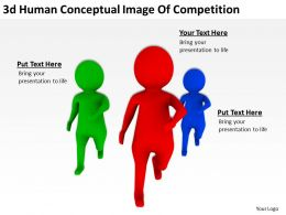 3d Human Conceptual Image Of Competition Ppt Graphics Icons