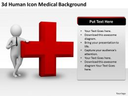 3d Human Icon Medical Background Ppt Graphics Icons Powerpoint
