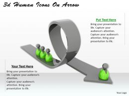 3d Human Icons On Arrow Ppt Graphics Icons Powerpoint