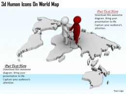 3d Human Icons On World Map Ppt Graphics Icons Powerpoint