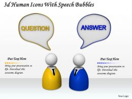 3d Human Icons With Speech Bubbles Ppt Graphics Icons Powerpoint