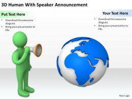 3D Human With Speaker Announcement Ppt Graphics Icons Powerpoint