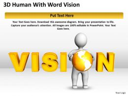 3D Human With Word Vision Ppt Graphics Icons