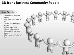 3D Icons Business Community People Ppt Graphics Icons