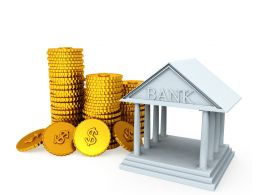 3D Illustration Business And Finance Keeping Money In The Bank Stock Photo