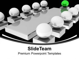3d Illustration Business Meeting With Manager PowerPoint Templates PPT Backgrounds For Slides 0213