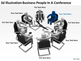3d Illustration Business People In A Conference Ppt Graphics Icons