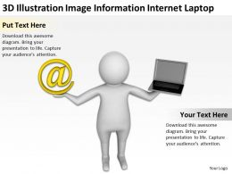 3D Illustration Image Information Internet Laptop Ppt Graphics Icons