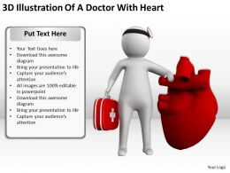 3D Illustration Of A Doctor With Heart Ppt Graphics Icons PowerPoint