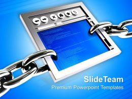 3d Illustration Of A Internet Browser Powerpoint Templates Ppt Themes And Graphics 0213