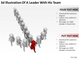 3d Illustration Of A Leader With His Team Ppt Graphics Icons