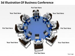 3d Illustration Of Business Conference Ppt Graphics Icons