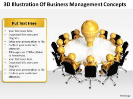 3D Illustration Of Business Management Concepts Ppt Graphics Icons