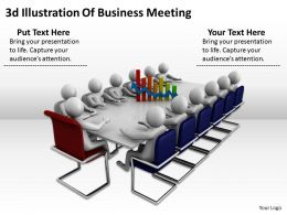 3d Illustration Of Business Meeting Ppt Graphics Icons Powerpoint