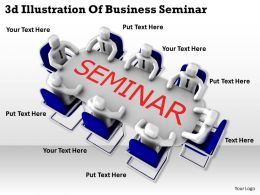 3d Illustration Of Business Seminar Ppt Graphics Icons Powerpoint