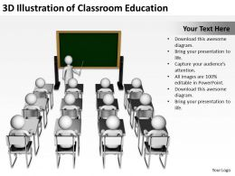 3D Illustration of Classroom Education Ppt Graphics Icons Powerpoint