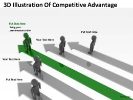 3D Illustration Of Competitive Advantage Ppt Graphics Icons