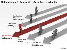 3D Illustration Of Competitve Advantage Leaderships Ppt Graphics Icons Powerpoint