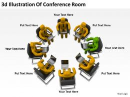 3D Illustration Of Conferance Room Ppt Graphics Icons