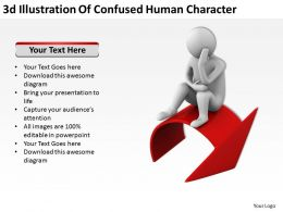 3D Illustration Of Confused Human Character Ppt Graphics Icons