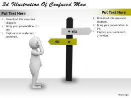 3d Illustration Of Confused Man Ppt Graphics Icons Powerpoint