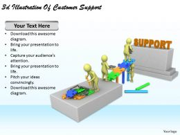 3d Illustration Of Customer Support Ppt Graphics Icons Powerpoint