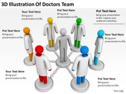 3D Illustration Of Doctors Team Ppt Graphics Icons PowerPoint