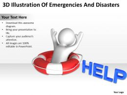 3D Illustration Of Emergencies And Disasters Ppt Graphics Icons