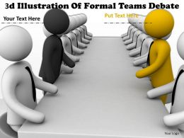 3d Illustration Of Formal Teams Debate Ppt Graphics Icons Powerpoint