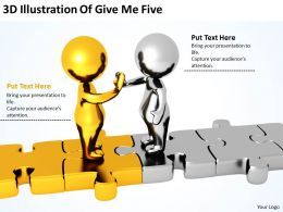 3D Illustration Of Give Me Five Ppt Graphics Icons Powerpoint