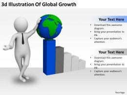 3d Illustration Of Global Growth Ppt Graphics Icons Powerpoint