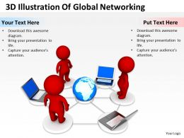 3D Illustration Of Global Networking Ppt Graphics Icons
