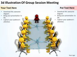 3D Illustration Of Group Session Meeting Ppt Graphics Icons