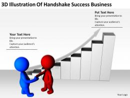3D Illustration Of Handshake Success Business Ppt Graphics Icons Powerpoint