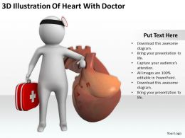 3D Illustration Of Heart With Doctor Ppt Graphics Icons Powerpoint