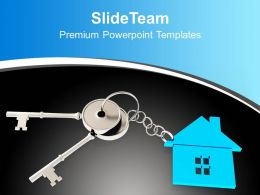 3d Illustration Of Home Key Concept Powerpoint Templates Ppt Themes And Graphics 0113