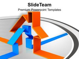 3d Illustration Of House Abstract Powerpoint Templates Ppt Themes And Graphics 0113