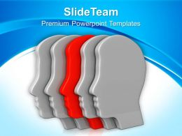 3d Illustration Of Human Heads Powerpoint Templates PPT Themes And Graphics 0113
