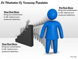 3d Illustration Of Increasing Population Ppt Graphics Icons Powerpoint