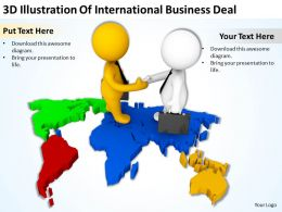 3D Illustration Of International Business Deal Ppt Graphics Icons Powerpoint