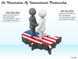 3d Illustration Of International Partnership Ppt Graphics Icons Powerpoint