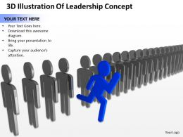3D Illustration Of Leadership Concept Ppt Graphics Icons