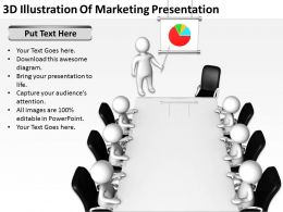 3D Illustration Of Marketing Presentation Ppt Graphics Icons